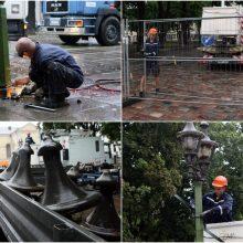 Darbų įkarštis prasideda ir likusioje Vilniaus gatvės dalyje