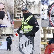 Policininkams protestuojant dėl skiepų, Vyriausybė žada taisyti padėtį
