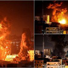 Gazos Ruože tęsiasi Izraelio smūgiai: gyventojai kalba apie siaubą ir baimę