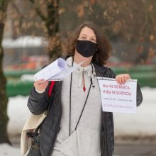 Po A. Navalno sulaikymo – piketas prie Rusijos ambasados Vilniuje
