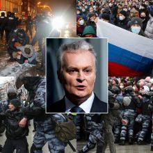 Prezidentas: veiksmai prieš opoziciją Rusijoje – grįžimas į Stalino erą