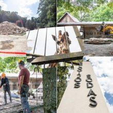 Lietuvos zoologijos sode karaliauja statybų technika: buvę gyvūnų namai virsta griuvėsiais