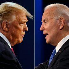 D. Trumpas leido teikti pagalbą J. Bideno komandai, tačiau pralaimėjimo nepripažįsta