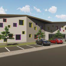Ergonomiškas: naują ikimokyklinio ugdymo įstaigą Garliavoje galės lankyti 160 mažylių.
