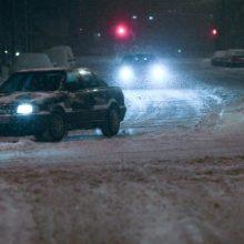 Perspėja: naktį eismo sąlygos bus nepavydėtinos