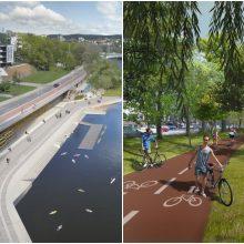 Vilniuje bus tvarkoma Neries krantinė – įrengiami dviračių ir pėsčiųjų takai