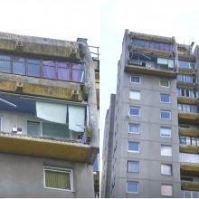 Naujos detalės dėl sostinėje nukritusio balkono: apie pavojų buvo įspėta