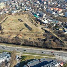 Kauno tvirtovės VII forto teritorijoje siautėjo ugnis