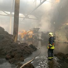 Pradėtas valyti po gaisro Alytuje susikaupęs užterštas vanduo