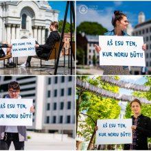 Studentų reakcija į VGTU reklamas Kaune: esame ten, kur norime būti