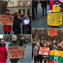 Protestuotojai dėl Centrinio pašto: šalin rankas nuo bendro turto