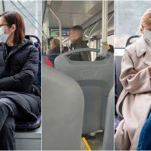 Troleibuse be kaukės buvęs vyras užsitraukė keleivių nemalonę