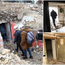 Po nugriautais Profsąjungų rūmais rastas bunkeris bus išsaugotas