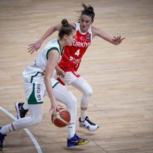 Šviesulys: Lietuvos moterų krepšinio rinktinėje vis tvirčiau jaučiasi J.Jocytė.