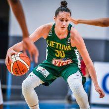 Karjera: 17-metė A.Zdanevičiūtė antrą kartą pagrindinės nacionalinės komandos sudėtyje žengė į aikštę.