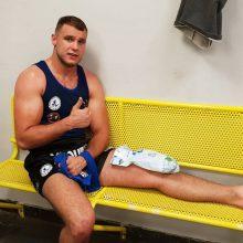 Apmaudu: Europos muai tai čempionate M.Rimdeiką sustabdė ne varžovas, bet trauma.
