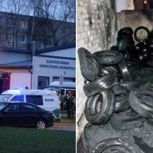 Įsipieskęs gaisras patvirtina: padangos prie servisų kelia didžiulį pavojų