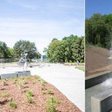 Rekonstruojamam Draugystės parkui – kritika: vaikas fontane paslydo ir krito