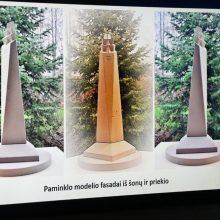 Alytuje bus pastatytas paminklo Dainavos partizanams maketas
