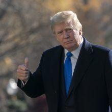 D. Trumpas pirmajame interviu po pralaimėjimo toliau tvirtino: rinkimai buvo suklastoti
