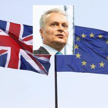 """G. Nausėda apie pratęstą """"Brexit"""" terminą: turime prieiti šį liepto galą"""