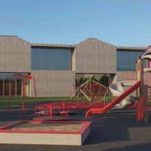 Projektas: taip atrodys Noreikiškėse, pagrindinėje Šiltnamių gatvėje, iškilsiantis vaikų darželis.