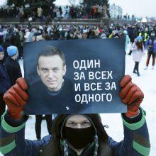 Demonstracijos A. Navalnui palaikyti – ir Lietuvos kaimynystėje