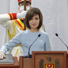 M. Sandu prisaikdinta Moldovos prezidente