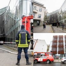 Neeilinis gaisras pačiame Kauno centre: ką užfiksavo vaizdo kameros