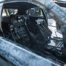 Kaune ir toliau liepsnoja automobiliai – sudegė jau trečias šią savaitę