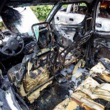 Kalvarijos savivaldybėje rastas sudegintas vogtas automobilis