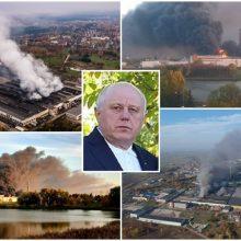 """Milžiniško gaisro byloje – įtarimai """"Ekologistikos"""" vadovui ir vienam darbuotojui"""