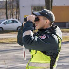 Reidas Klaipėdoje: vyresnio amžiaus vairuotojas skriejo dvigubai greičiau nei leista