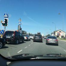 Uostamiesčio gatvėse – chaosas: kelto laukia šimtai automobilių