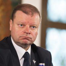 Pažadai: į prezidentus pretendavęs premjeras S.Skvernelis šių metų balandį rinkėjams dalijo pažadus, kad Baltijoje Lietuva turės savo naftos telkinių.
