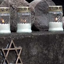Subjaurojo žydų žudynių atminimo lentą