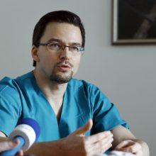 Reazultatas: G. Bieliauskas pasidžiaugė, kad operacijos atliktos be pjūvių, be komplikacijų, nė vienam pacientui neprireiks ilgos reabilitacijos.