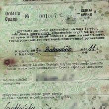 Mįslės: miške rastas orderis, išduotas butui, kuris šiuo metu priklauso Klaipėdos savivaldybei.