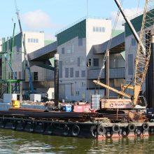 """Investicijos: pastaruoju metu į """"Birių krovinių terminalo"""" infrastruktūros gerinimą buvo dedami nemaži uosto pinigai, o darbus atliko viena iš Latvijos kompanijų."""