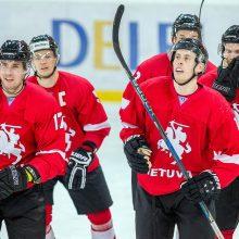 Lietuvos ledo ritulio rinktinė kontrolinėse rungtynėse palaužė Estiją