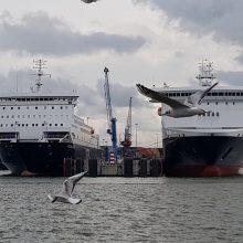 Ilgins keleivinių jūros keltų pirsą