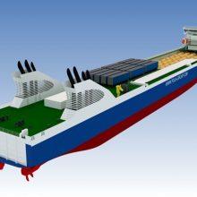 """Projektas: taip atrodytų Baltijsko - Ust Lugos linijos keltai pagal parengtą projektą """"CFN19M""""."""