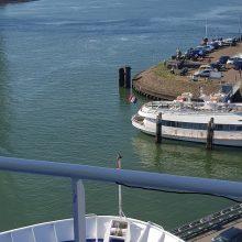 Reisas: DFDS keltas rengiasi plaukti į Didžiosios Britanijos Felikstovo uostą.