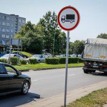 Statybininkų prospektu sunkvežimiai nevažiuos
