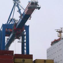 Uostus labiausiai tempia konteineriai