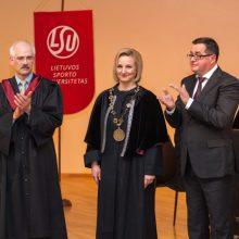 Prisiekė LSU rektorė: gimiau ir augau universitete