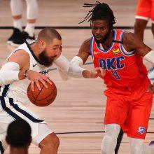 """J. Valančiūnas padėjo """"Grizzlies"""" pasiekti pirmąją pergalę NBA čempionato tęsinyje"""