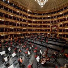"""Milano """"La Scala"""" vėl atvėrė duris muzikos mylėtojams"""