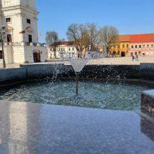 Kauniečiai praneša: jau bunda miesto fontanai