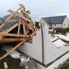 Europa po galingos audros skaičiuoja nuostolius